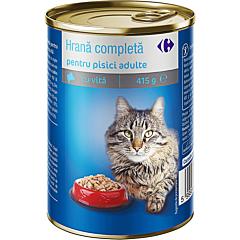 Hrana pentru pisici adulte, cu vita, conserva, Carrefour 415g