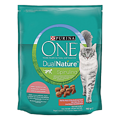 Hrana uscata pisici, Purina One Dual Nature, Adult Sterilized, Somon, 750 g