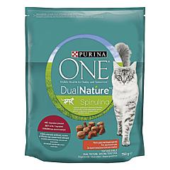 Hrana pentru pisici, Purina One Dual Nature Adult Sterilized bogata in vita, 750 g