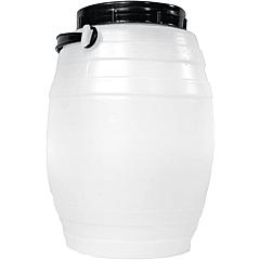 Bidon cu toarta Sterk, plastic, alb/negru, 4L