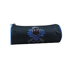 Penar tubular licenta Fortnite, personaj Mask, material textil, 22x8x8 cm, Gri/Albastru