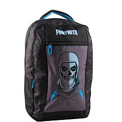 Ghiozdan scolar Fortnite Two Face, 6 ani +, material textil, 38x11x27 cm, Gri/Albastru