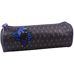Penar tubular licenta Fortnite, personaj Grey, 22x8x8 cm, material textil, Gri/Albastru