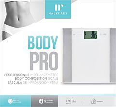 Cantar baie Nalk & Rey Pro Body NRBF702-20, maxim 180 Kg, ecran LCD, Calculator grasime corporala, Alb