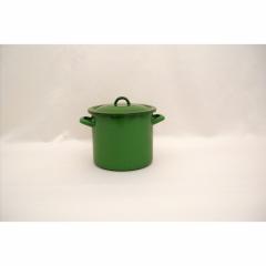 Oala email + capac 16 cm/2.25 L, verde