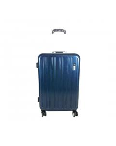 Troler ABS 56 cm, 4 roti, albastru, Carrefour