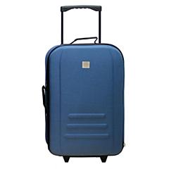 Troler Eva 50 cm, 2 roti, albastru, Carrefour