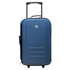 Troler Eva 61 cm, 2 roti, albastru, Carrefour