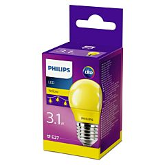 Bec Philips Led P45 COLOR E27 GALBEN