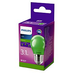 Bec Philips Led P45  COLOR E27 VERDE