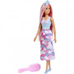 Papusa Barbie Dreamtopia cu perie, Barbie