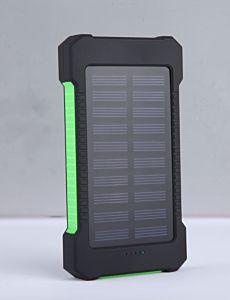 Baterie externa cu incarcare la soare Logic, 8000 mAh, Negru/Verde