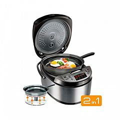 Multicooker Redmond RMK-M451E, 5 Litri, 40 programe, 1000 W, Negru/Inox