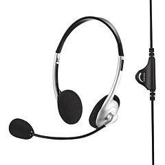 Casti gaming Poss PSBH200SL, Microfon, Cablu 2 m, Negru/Argintiu
