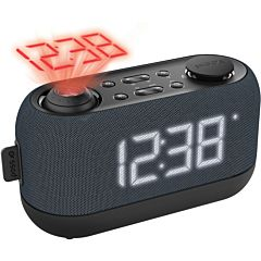Radio ceas PSCR15 Poss, Proiector, Functie Snooze, Negru