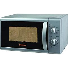 Cuptor cu microunde VORTEX VO4001SV, 20L, 700W, Mecanic, Grill, Silver