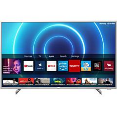 Televizor LED Smart Philips 43PUS7555/12, 108 cm, 4K Ultra HD, Clasa G, Argintiu