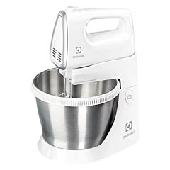 Mixer cu bol Electrolux ESM3300, 450 W, 5 Viteze, Bol rotativ din inox, Alb