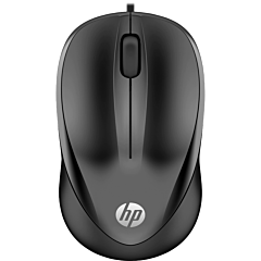 Mouse optic HP1000, USB, cu fir, Negru
