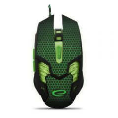 Mouse gaming Esperenza MX207 Cobra, Negru/Verde