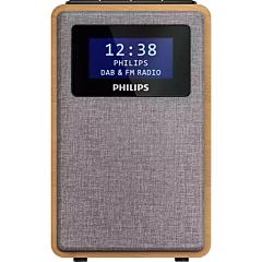 Radio portabil Philips TAR5005/10, DAB+, FM, carcasa lemn