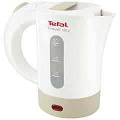 Fierbator Tefal KO120130, 2400 W, 0.5 Litri, portabil, gentuta pentru transport, Alb