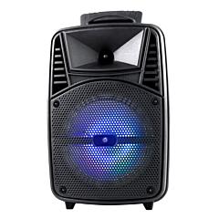 Boxa tip troller Omega OG84B, Bluetooth , 20 W, Led, FM radio, microfon karaoke, Negru