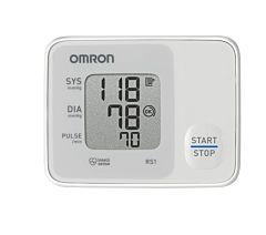 Tensiometru de incheietura compact Omron RS1, complet automat cu tehnologie Intellisense, Alb