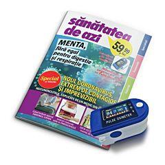 Revista Sanatatea de Azi cu pulsoximetru