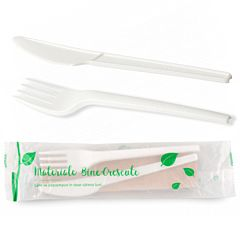 Set cutit-furculita biodegradabil