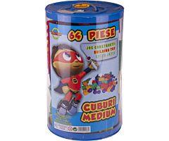 Set x 64 de cuburi constructie, Huby Toys