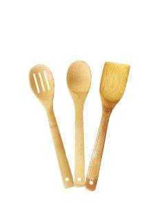 Set 3 spatule bambus