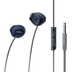Casti in-ear TCL SOCL200, cu fir, microfon, buton de raspuns, Negru