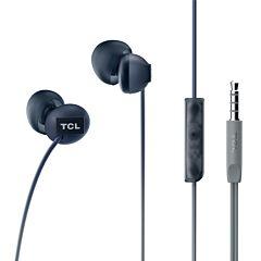 Casti in-ear TCL SOCL300, cu fir, microfon, buton de raspuns, Negru