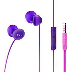 Casti in-ear TCL SOCL300, cu fir, microfon, buton de raspuns, Violet