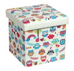 Taburet Design 38x38 cm, Owls New