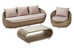 Set mobilier gradina Sumatra, 3 piese, ratan
