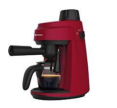 Espressor manual Vortex EXSVO4009RD, 800 W, 3.5 bar, rezervor 240 ml, 4 cesti, functie spumare, Rosu