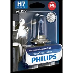 Bec moto Blue Vision h7 12v Philips