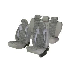Huse scaune auto Umbrella Luxury CHEVROLET KALOS Piele ecologica Gri Textil