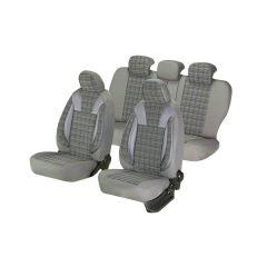 Huse scaune auto Umbrella Luxury PEUGEOT 407 Piele ecologica Gri Textil