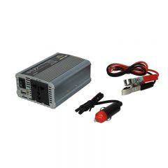 Invertor auto WHITENERGY DC 24V-AC 230V 350W + USB