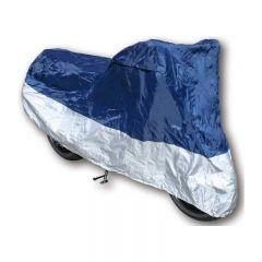Prelata Motocicleta Scuter pentru Exterior, Impermeabila, Marime L, Albastru / Argintiu