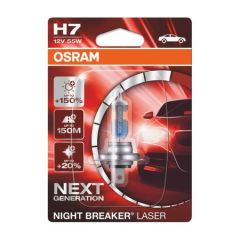 Bec auto far halogen Osram H7 Night Breaker Laser Next Gen +150%, 55W, 12V ,PX26D ,blister 1buc