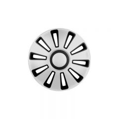 Set 4 capace roata 15'' SILVERSTONE argintiu cu negru, Lampa