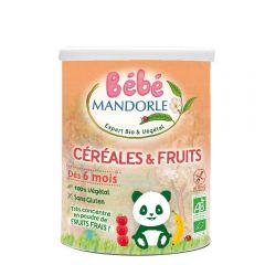 Cereale + fructe pentru bebeluși - de la 6 luni, fara gluten, fara lactoza, 400g