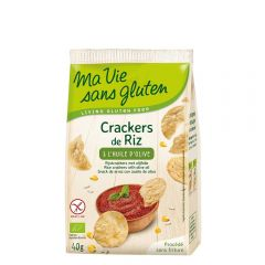 Crackers din orez cu ulei de masline - fara gluten 40g