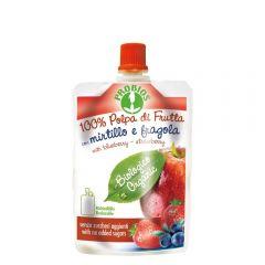 Piure de fructe fara zahar - mere, afine, capsuni 100g