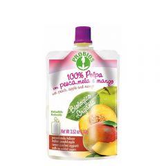 Piure de fructe bio fara zahar - piersici, mere, mango 100g