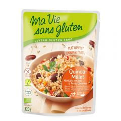 Quinoa si mei cu legume Bio - produs fara gluten bio gata preparat, 220g